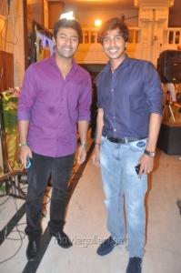 Shanthanu, Vishnu at Actor Mirchi Shiva Wedding Reception Photos
