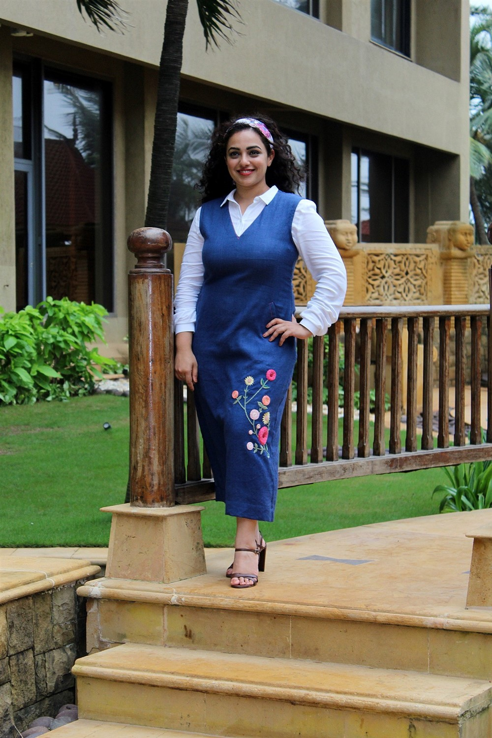 Actress Nithya Menon @ Mission Mangal Promotion in JW Marriot Photos