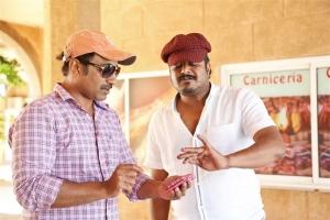 Srinu Vaitla, Nallamalupu Bujji @ Mister Movie Working Stills
