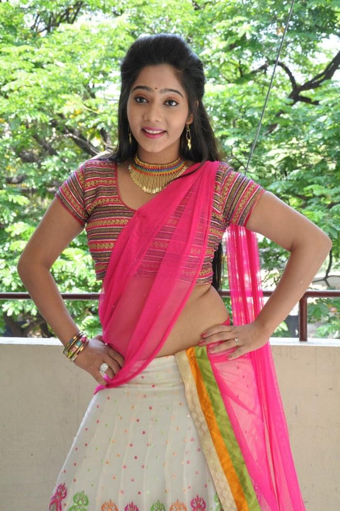 Telugu Actress Mithra Hot in Half Saree Stills