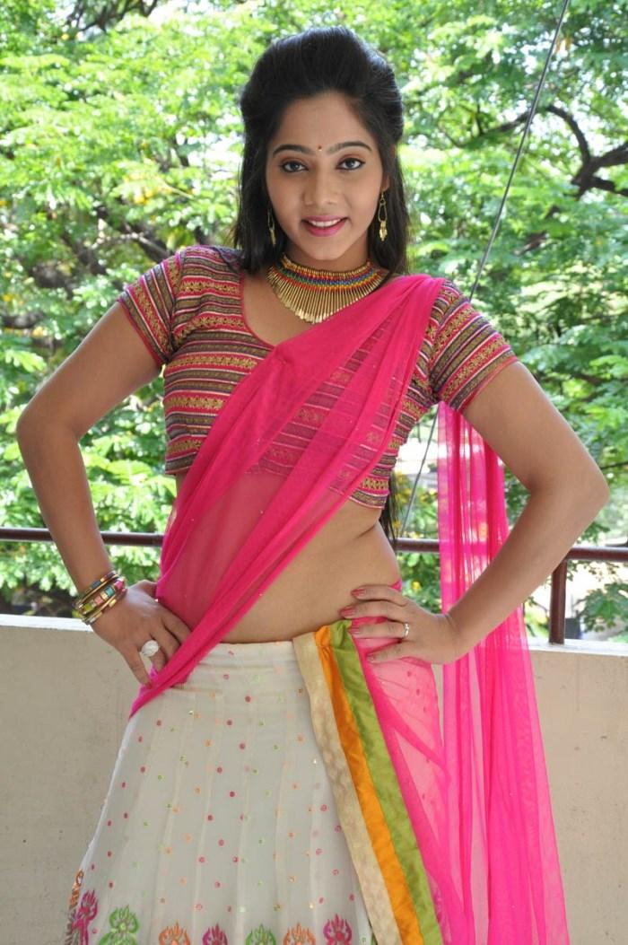 Actress Mithra Hot Half Saree Stills @ Aloukika Movie Press Meet