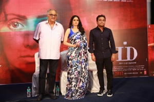 Boney Kapoor, Sridevi, AR Rahman @ MOM Movie Press Meet Stills