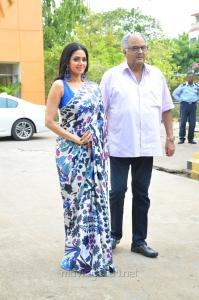 Sridevi, Boney Kapoor @ MOM Movie Press Meet Stills