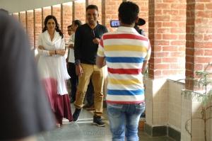 Actress Sridevi & Director Ravi Udyawar @ MOM Movie Shooting Stills