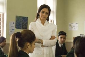Tamil Actress Sridevi in MOM Movie Stills