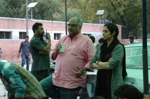 Boney Kapoor, Sridevi in MOM Movie Working Stills