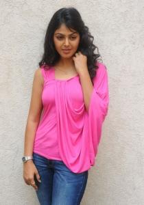 Actress Monal Gajjar in Pink Sleeveless Top