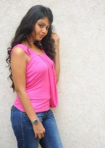 Monal Gajjar Hot Stills in Pink Dress