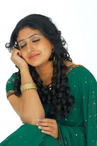 Actress Monica Cute In Green Saree Latest Photo Shoot Stills