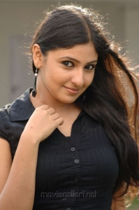 Tamil Actress Monika Hot Pics in Black Top & Long Skirt