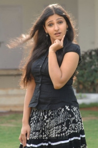 Actress Mounika Hot Pics in Black Top & Long Skirt