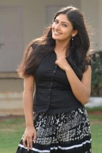 Telugu Actress Mounika Hot Pics in Black Top & Long Skirt