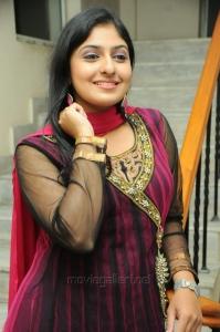 Tamil Actress Monica Stills in Dark Pink Salwar Kameez
