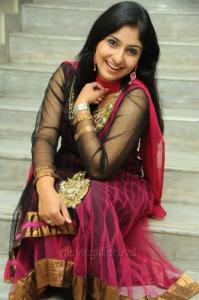 Telugu Actress Mounika Stills in Dark Pink Salwar Kameez