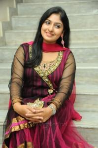 Actress Rekha Maruthiraj (Monica) Stills in Dark Pink Churidar