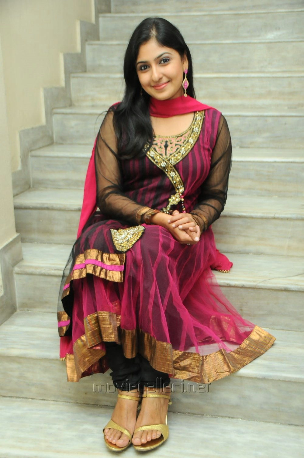 Actress Monica New Stills in Dark Pink Salwar Kameez