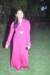 Actress Monica New Images in Pink Long Gown with Sleeves