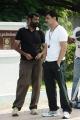 Director Vasanth, Actor Arjun at Moondru Per Moondru Kadhal Working Stills