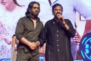 Suniel Shetty, Mohan Babu @ Mosagallu Movie Pre Release Event Stills