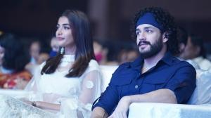 Pooja Hegde, Akhil Akkineni @ Most Eligible Bachelor Pre Release Event Stills