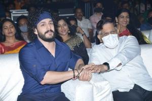 Akhil Akkineni, Allu Aravind @ Most Eligible Bachelor Pre Release Event Stills