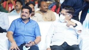 Bunny Vasu, Allu Aravind @ Most Eligible Bachelor Pre Release Event Stills