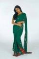 Telugu Actress Monika in Green Saree Photo Shoot Stills