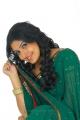 Telugu Actress Mounika in Green Saree Photo Shoot Stills