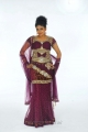 Telugu Actress Mounika Long Anarkali Dress Photo Shoot Stills