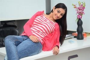 Actress Mouryani Interview Photos about Janaki Ramudu Movie