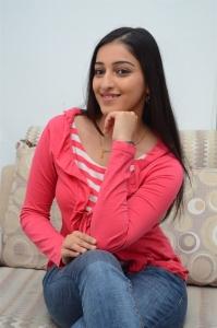 Actress Mouryaani Interview Photos about Janaki Ramudu Movie