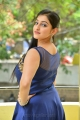 Love And War Movie Actress Mouryaani in Blue Dress Photoshoot Stills
