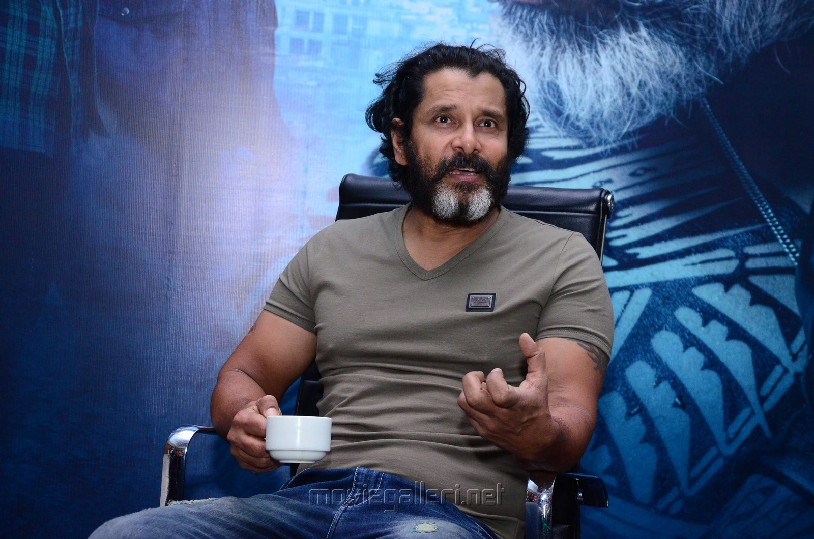 Mr KK Movie Hero Chiyaan Vikram Interview Photos