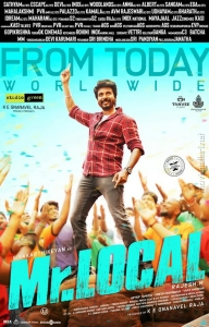 Hero Sivakarthikeyan in Mr Local Movie Release Today Posters