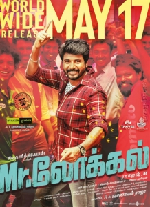 Actor Sivakarthikeyan in Mr Local Movie Release Posters