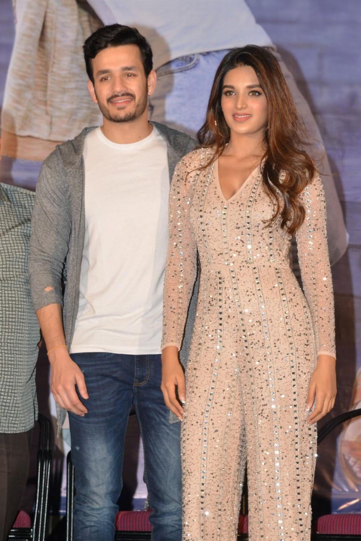 Akhil, Nidhi Agarwal @ Mr Majnu Movie Success Meet Stills