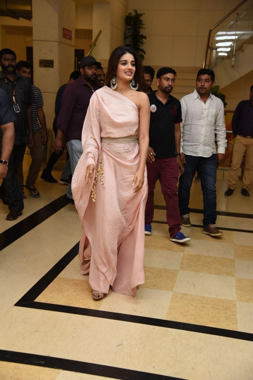 Actress Nidhhi Agerwal @ Mr Majnu Press Meet at Vijayawada Photos