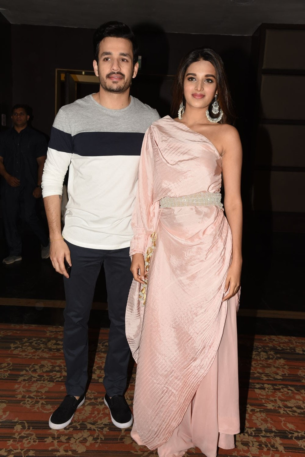 Akhil, Nidhhi Agerwal @ Mr Majnu Press Meet at Vijayawada Photos
