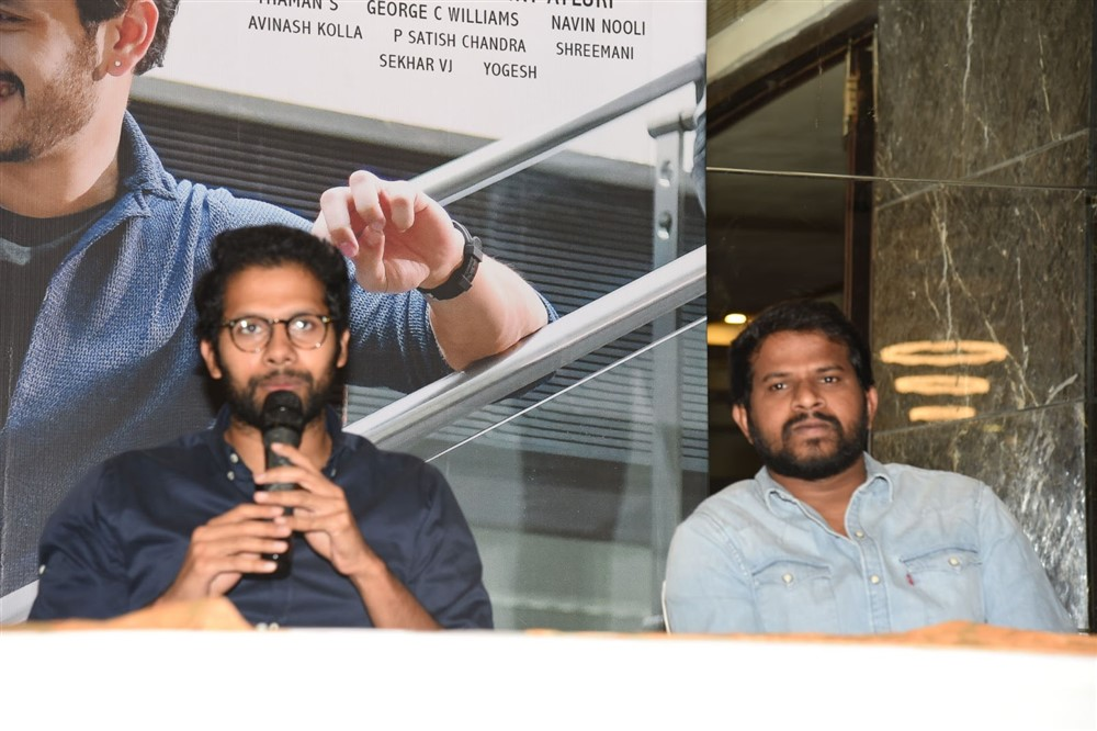 Director Venky Atluri @ Mr Majnu Press Meet at Vijayawada Photos