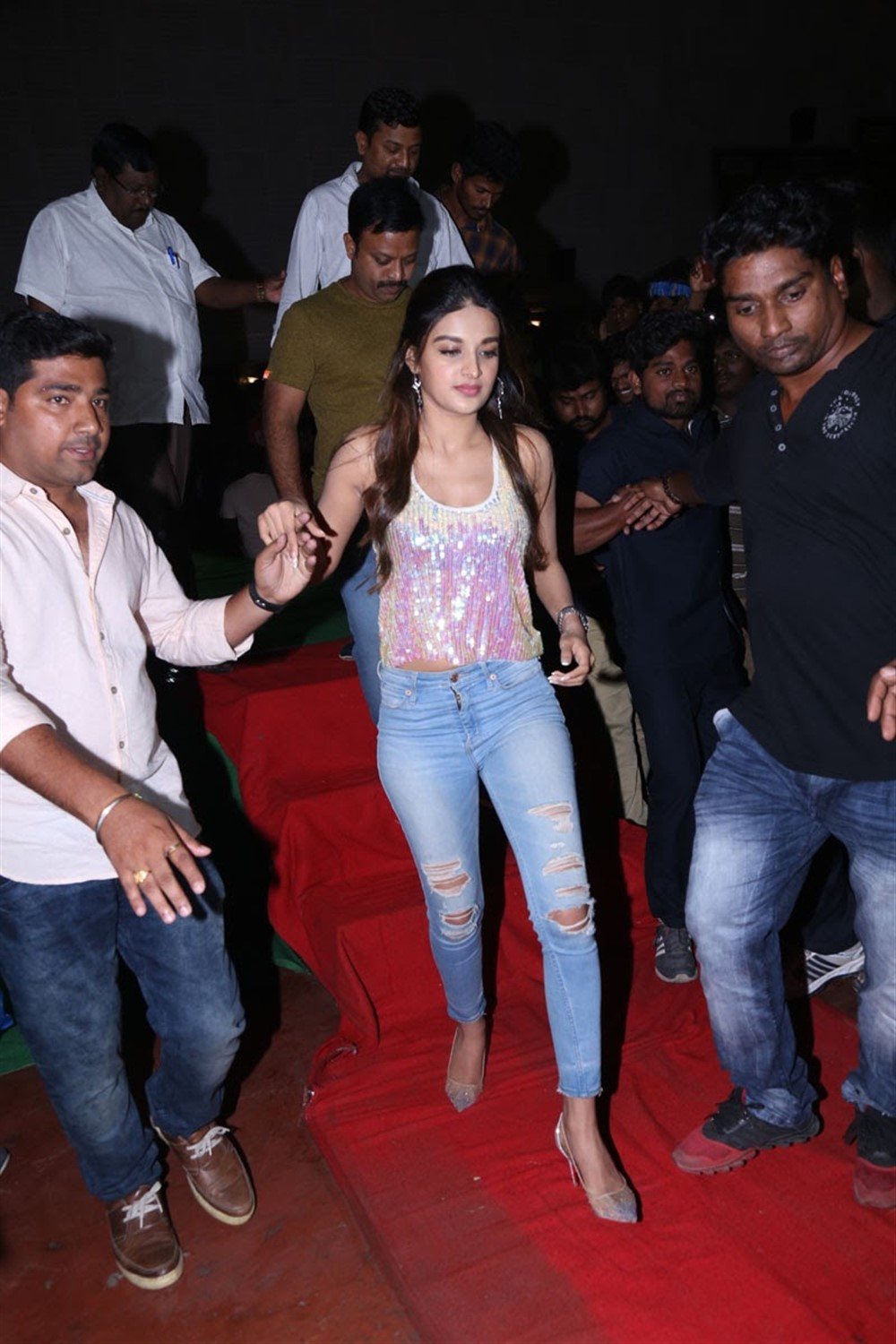 Nidhhi Agerwal @ Mr Majnu Team Theatre Coverage in Hyderabad