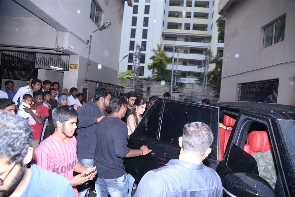 Mr Majnu Team Theatre Coverage in Hyderabad