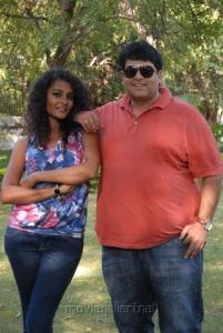 Sonia Deepti, Krishnudu at Mr.Manmadha Movie On Location Stills