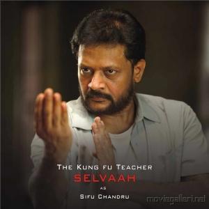 Selvaah as Sifu Chandru in Mugamoodi Audio Release Invitation Posters