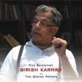 Girish Karnad as the grandfather in Mugamoodi Songs Release Invitation Posters