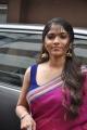 Muktha Bhanu Hot Photos in Dark Pink Saree with Blue Sleeveless Blouse