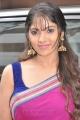 Actress Muktha George Hot Pink Saree Photos