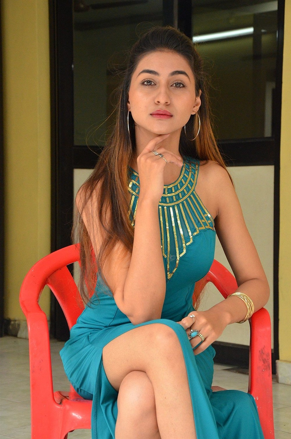 Actress Myra Amiti Photos @ Only Nenu Movie Trailer Launch