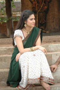 Actress Sada in Saree Stills from Mythri Telugu Movie