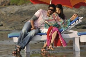Rana Daggubati and Genelia in Naa Ishtam Movie Stills