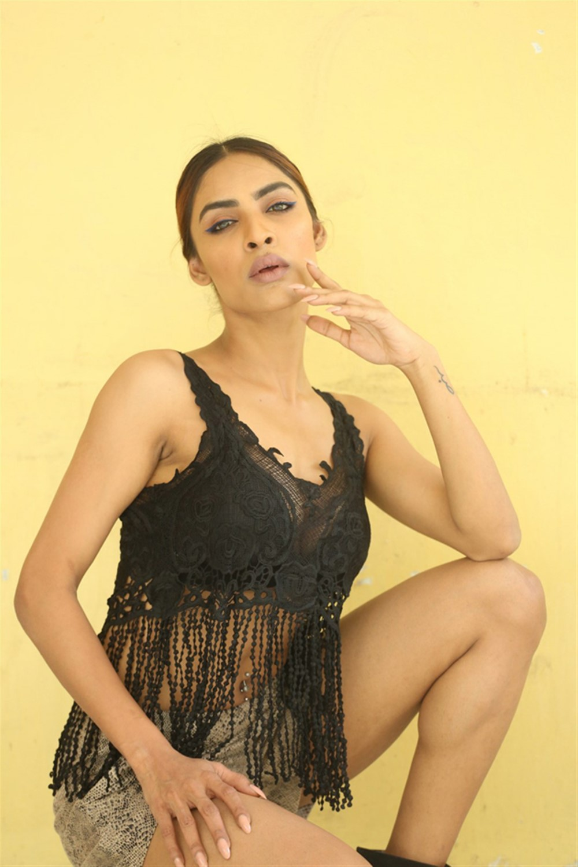 Actress Nasreen Shaikh @ Naa Peru Raja Movie Logo Launch Stills